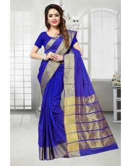 Blue Colour Banarasi Silk Saree  - 81523B