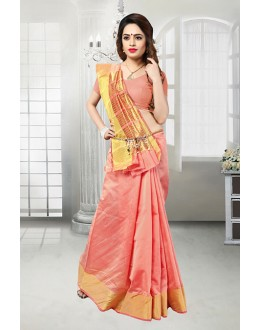 Peach Colour Banarasi Silk Saree  - 81523C