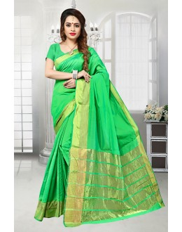 Banarasi Silk Party Wear Green Saree  - 81524A
