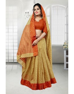 Beige Colour Banarasi Silk Saree  - 81525F