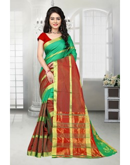 Party Wear Green Dora Kota Saree  - 81527A