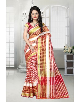 Ethnic Wear Multi-Colour Cotton Saree  - 81528A