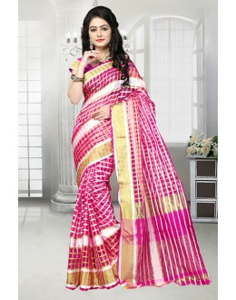 Festival Wear Multi-Colour Cotton Saree  - 81528B