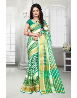 Multi-Colour Cotton Printed Saree  - 81528C