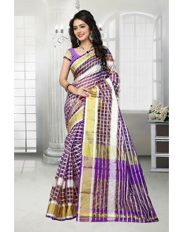 Festival Wear Multi-Colour Cotton Saree  - 81528E