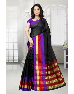 Black Colour Dora Kota Saree  - 81531C