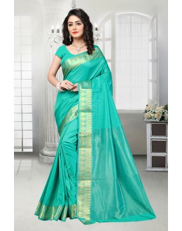Traditional Green Banarasi Silk Saree  - 81533H