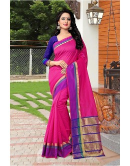 Casual Wear Pink Banarasi Silk Saree  - 81759