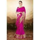 Festival  Wear Pink Silk Saree  - 81774