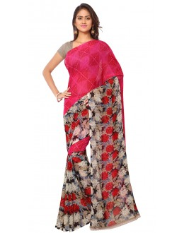 Casual Wear Multi Colour Ranyal Printed Saree  - 81808