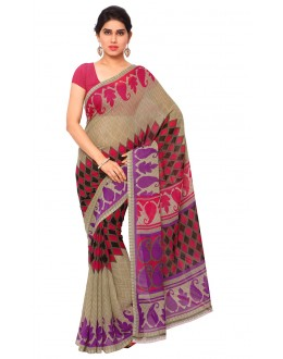Traditional Wear Multi Colour Ranyal Printed Saree  - 81812