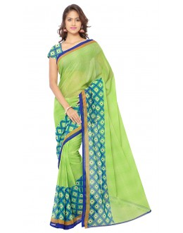 Festival Wear Green Ranyal Printed Saree  - 81816
