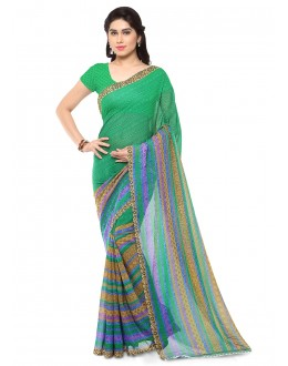 Party Wear Multi Colour Ranyal Printed Saree  - 81878