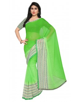 Ethnic Wear Green Ranyal Printed Saree  - 81922