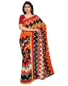 Casual Wear Multi Colour Ranyal Printed Saree  - 81923