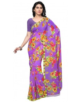Traditional Wear Multi Colour Ranyal Printed Saree  - 81943