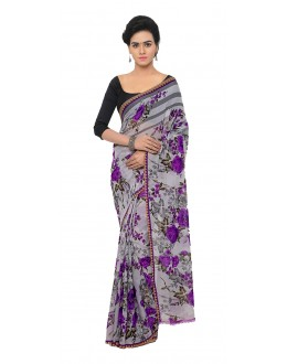 Casual Wear Multi Colour Ranyal Printed Saree  - 81955
