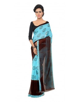 Ethnic Wear Multi Colour Ranyal Printed Saree  - 81956