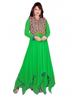 Gorgeous Party Wear Embroidered Net Green Gown - EBSFGLF413017 ( EBSFG41 )