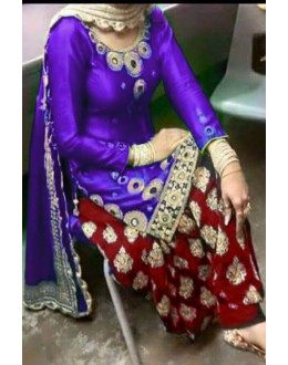 Bollywood Replica - Designer Purple & Maroon Cotton Patiala Suit - EBSFSK223008D ( EBSFSK22 )