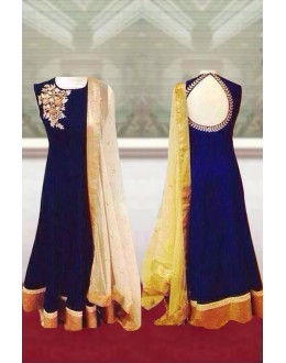 Bollywood Replica- Wedding Wear Blue Anarkali Suit - EBSFSK223041 ( EBSFSK22 )