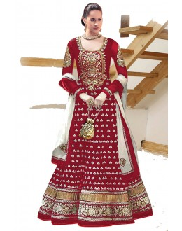 Designer Maroon Georgette Heavy Embroidered Anarkali Suit  - EBSFSK223002C ( EBSFSK22 )