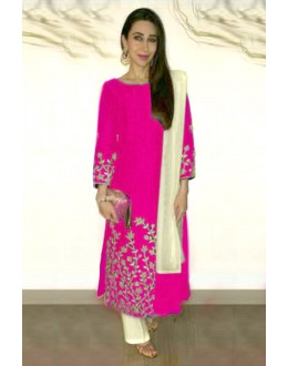 Karishma Kapoor Pink Embroidered Cotton Salwar Suit - EBSFSK223005D ( EBSFSK22 )