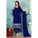 Party Wear Blue Georgette Beautiful Salwar Suit - EBSFSK223007A ( EBSFSK22 )