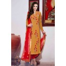 Party Wear yellow Georgette Embroidered Salwar Suit - EBSFSK223006D ( EBSFSK22 )