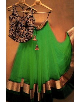 Bollywood Replica - Designer Net Green Lehenga Choli - EBSFLC234002B