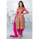 Party Wear Georgette Pink Patiala Suit - EBSFSK09107A