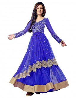 Wedding Wear Blue Net Anarkali Suit - EBSFSK14208A