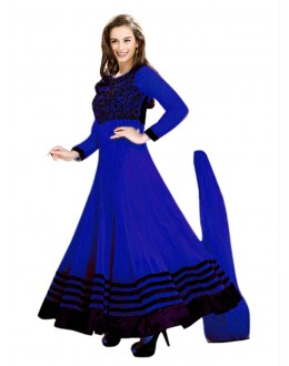 Wedding Wear Blue Net Anarkali Suit - EBSFSK14212C