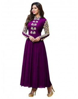 Eid Special Purple Anarkali Suit -  EBSFSK17721C