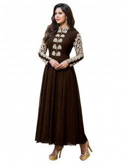Eid Special Brown Anarkali Suit -  EBSFSK17721D
