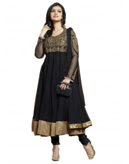 Party Wear Black Net Anarkali Suit - EBSFSK202011