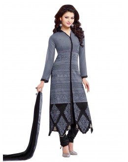 Party Wear Georgette Grey Salwar Kameez - EBSFSK202003A