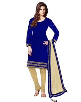 Party Wear Velvet Blue Salwar Kameez - EBSFSK202029C