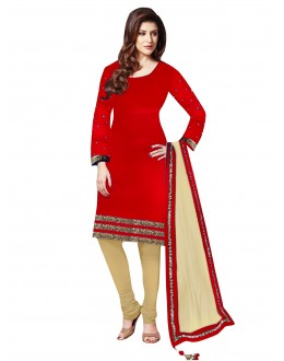 Party Wear Velvet Red Salwar Kameez - EBSFSK202029D