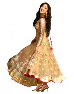 Bollywood Replica-Yami Gautam Designer Cream Net Anarkali Suit - EBSFSK245020 ( EBSFSK24 )