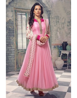 Party Wear Pink Anarkali Suit  - EBSFSK245021 ( EBSFSK24 )