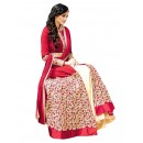Banglori Silk Embroidered Red Lehenga Suit - ( EBSFSK25 )