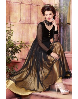 Net Embroidered Black Anarkali Salwar Kameez - EBSFSK267044 ( EBSFSK26 )