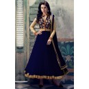 Net Embroidered Blue Anarkali Salwar Kameez - EBSFSK223021C ( EBSFSK22 )