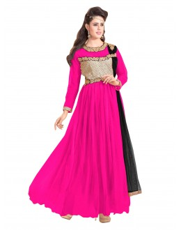 Party Wear Net Pink Gown - EBSFSK317001H
