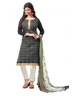 Chanderi Black Salwar Suit - EBSFSKRB334067