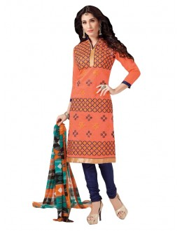 Chanderi Orange Salwar Suit - EBSFSKRB334073