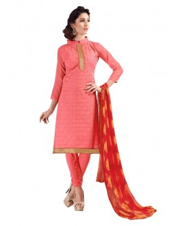 Chanderi Peach Salwar Suit - EBSFSKRB334068
