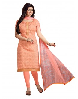 Chanderi Peach Salwar Suit - EBSFSKRB334078