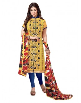 Chanderi Yellow Salwar Suit - EBSFSKRB334070